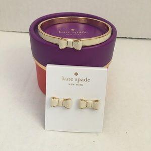 Kate Spade Bow Braclet & Earrings Bundle